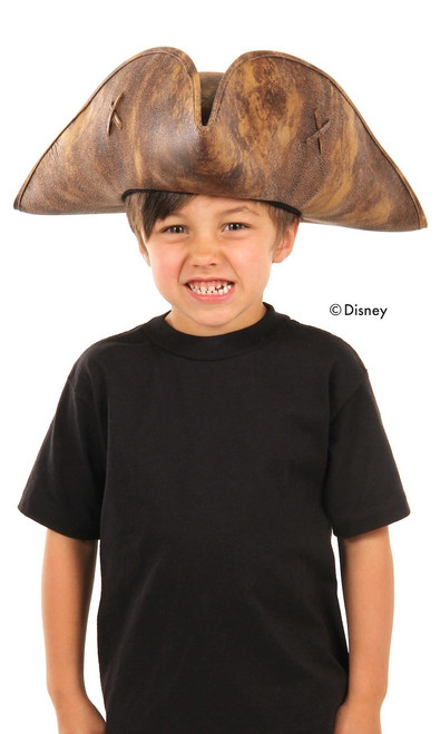 Children's Faux-Leather Jack Sparrow Pirate Hat