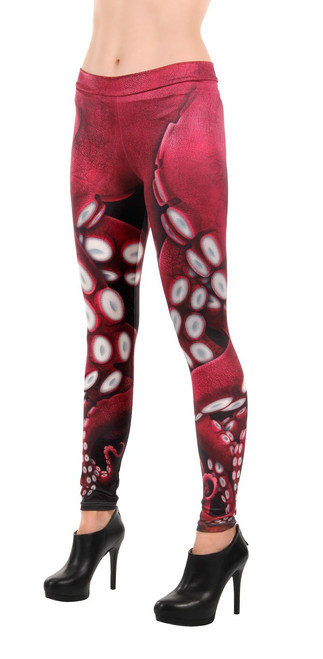 CLEARANCE - Red Tentacle Octopus Costume Leggings