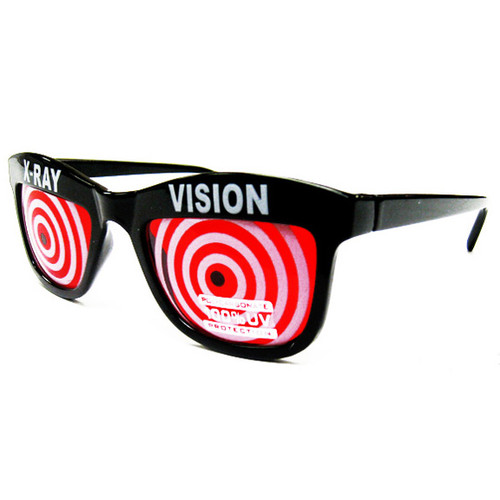 X-Ray Vision Spiral Costume Sunglasses