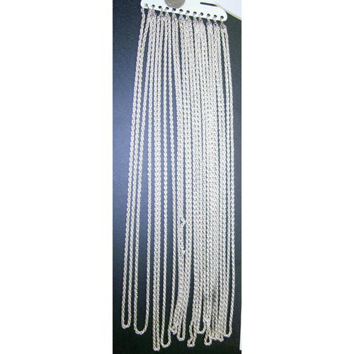 "Classic 30"" Silver Costume Chain Necklace"