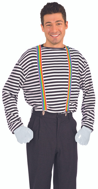 Rainbow Stripe Costume Suspenders