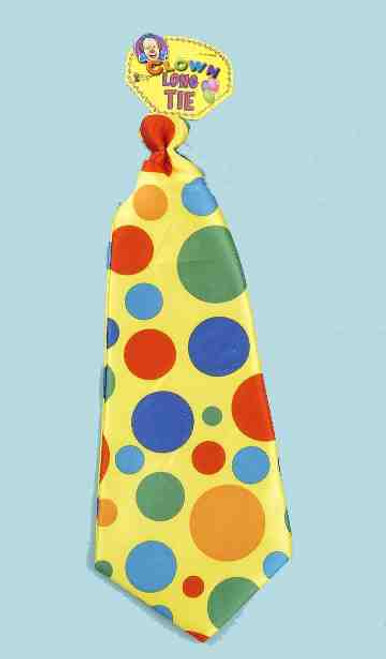 Jumbo Polka Dot Clown Costume Tie