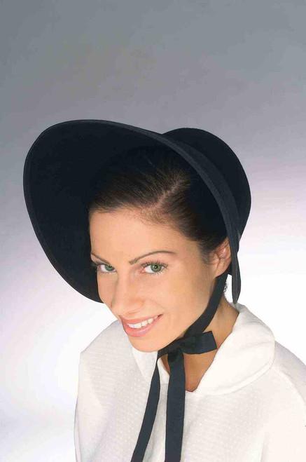 Black Felt Classic Costume Bonnet