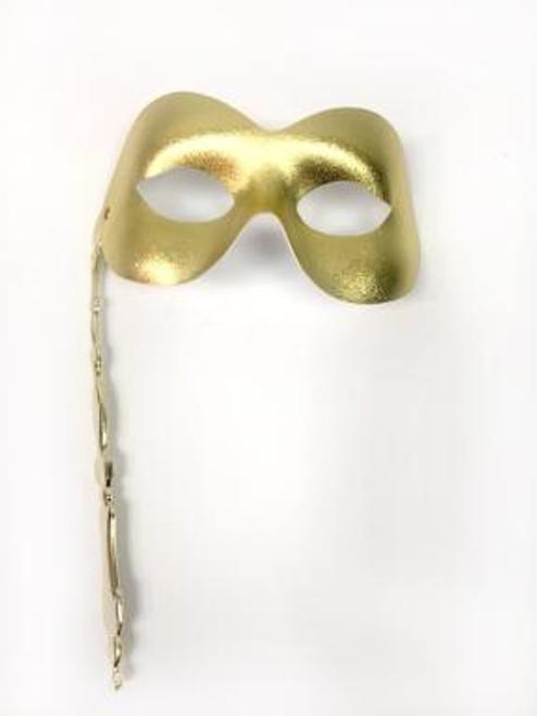 Classic Metallic Masquerade Mask with Stick