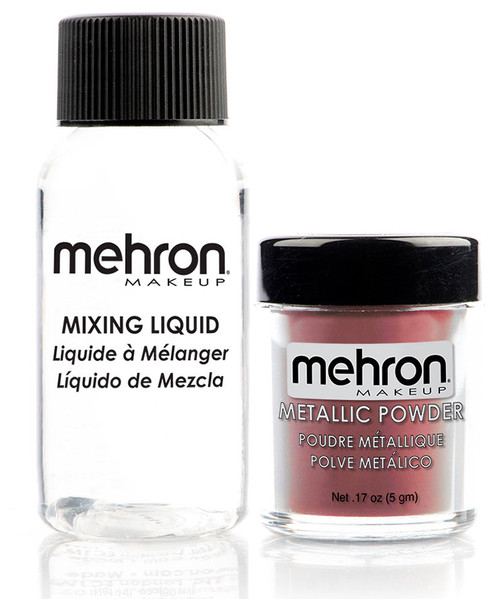 Mehron Metallic Powder with Mixing Liquid - Rose Gold