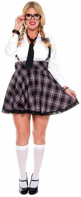 High Class Nerdy Uniform Costume - Plus Size