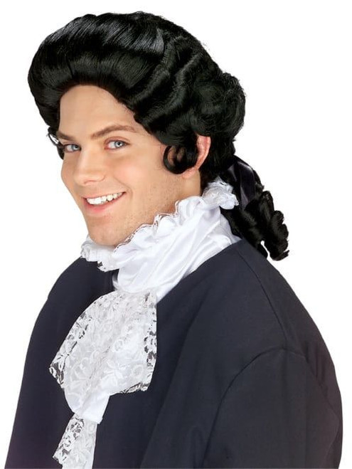 Curly Black Colonial Wig