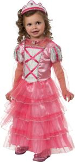 Toddler's Pink Princess Little Miss Frilly Costume