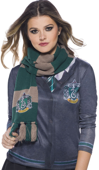 Warm Knitted Slytherin Scarf