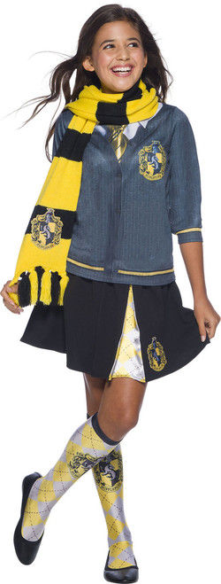Warm Knitted Hufflepuff Scarf