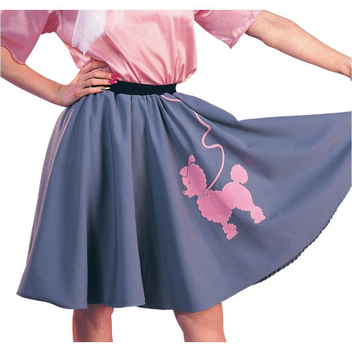 Grey & Pink Poodle Costume Skirt