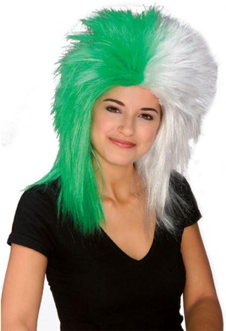 Green & White Sports Fanatix Wig