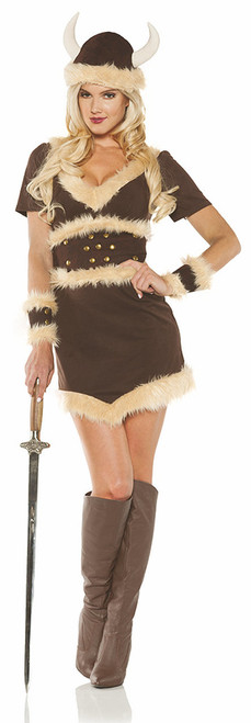 Faux Fur-Lined Viking Maiden Costume