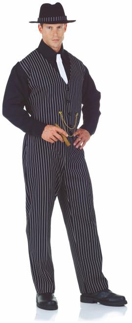 20s Navy Striped Vest Mobster Costume