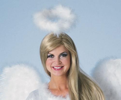 White Marabou Angel Halo b2eacc0ed013