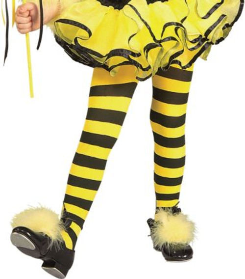 Children's Bumble Bee Striped Tights