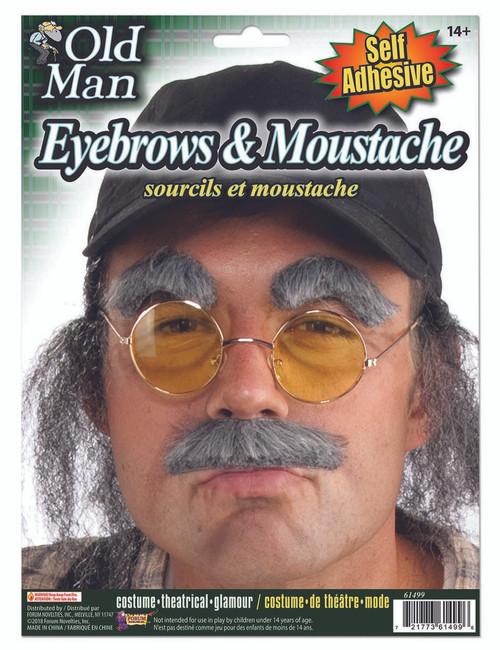 Old Man Eyebrows & Moustach Kit