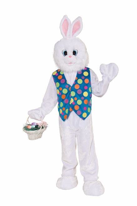 Deluxe Plush Funny Bunny Easter Bunny Mascot Costume
