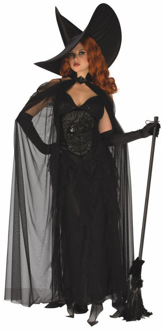 Elegant Black Witch Costume
