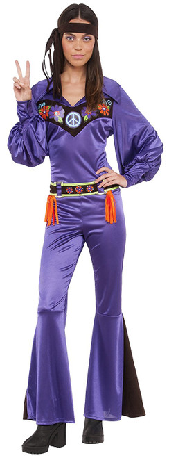 That 70s Babe Purple Jumpsuit Costume
