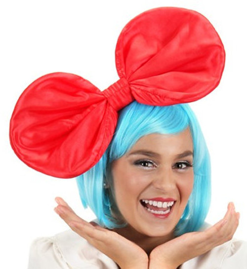 Giant Anime Bow - Black & Red Colours