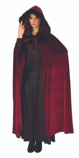 Burgundy Baroness Cape