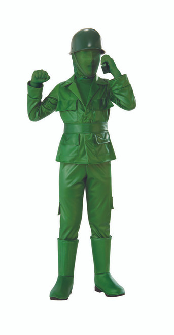 Children's Green Toy Soldier Costume