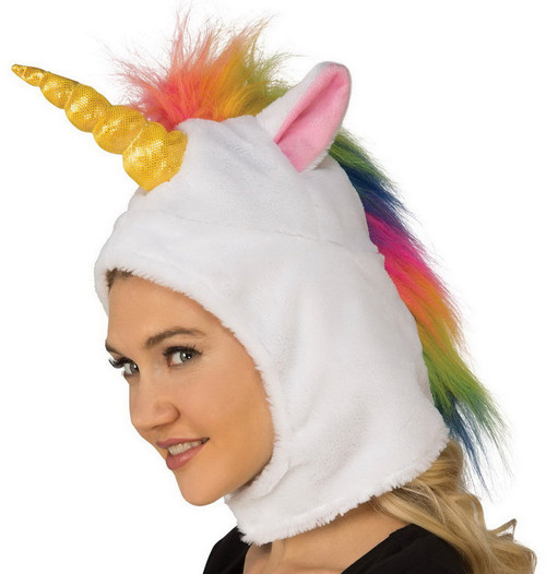 Rainbow Unicorn Hood/Hat