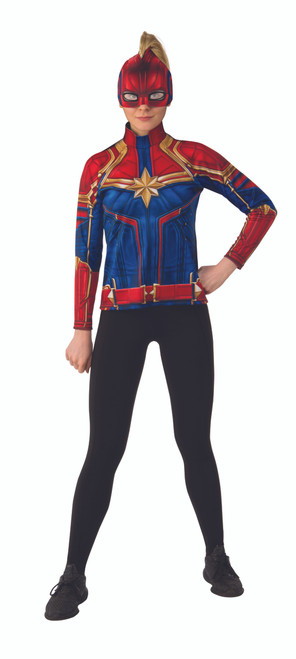 Captain Marvel Costume Top & Headpiece