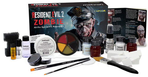Officially Licensed Capcom Resident Evil (TM)2 Zombie All-Pro Makeup Kit by Mehron