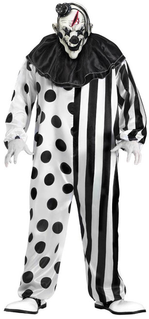 Black & White Killer Clown Costume