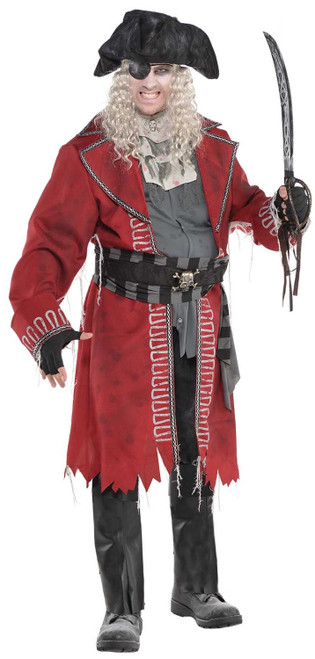 Zombie Pirate Captain Costume - Plus Size