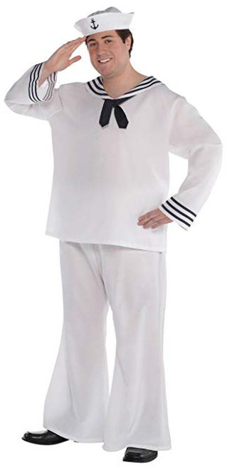 Sailor Man/Navy Costume - Plus Size