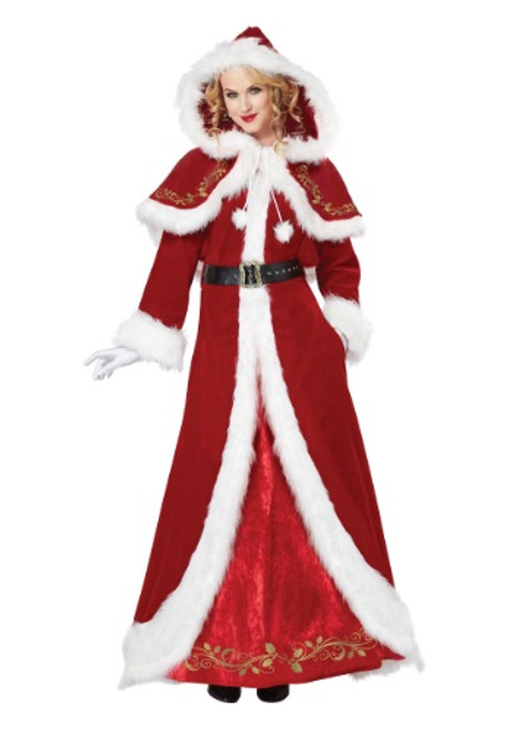 Deluxe Mrs Claus Costume - Plus Size