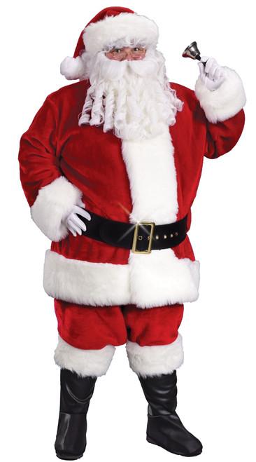 Crimson Plush Regency Santa Suit - Plus Size