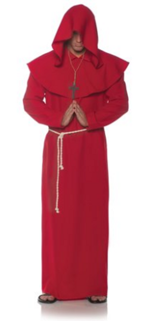 Red Monk Robe Costume