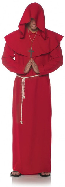 Red Monk Robe Costume - Plus Size