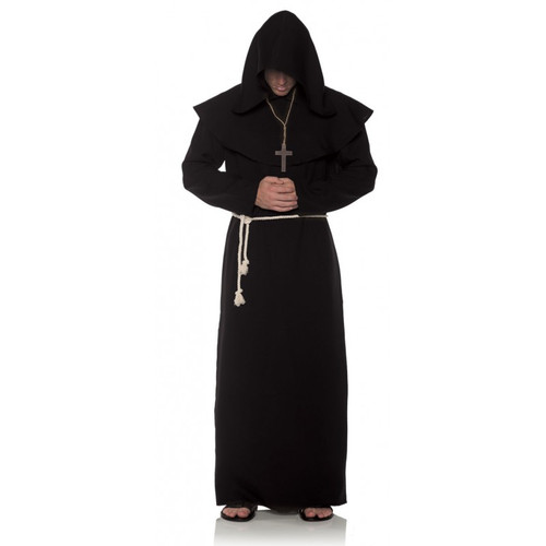 Black Monk Robe Costume - Plus Size