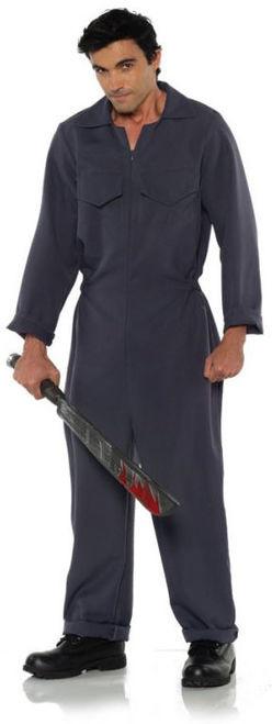 Grey Boiler Suit Costume - Plus Size