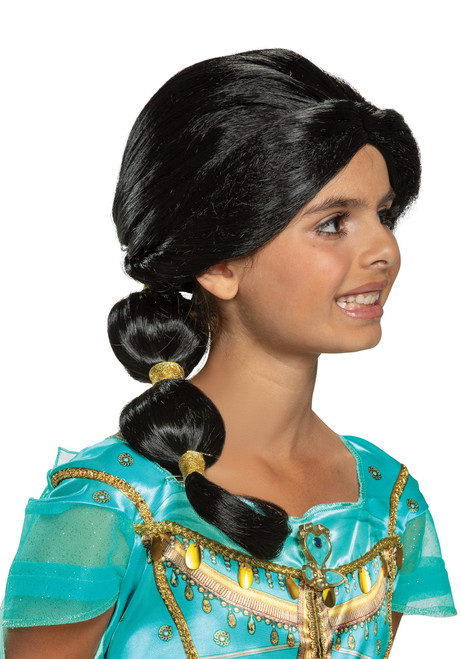 Jasmin Wig Child Aladdin Live Action