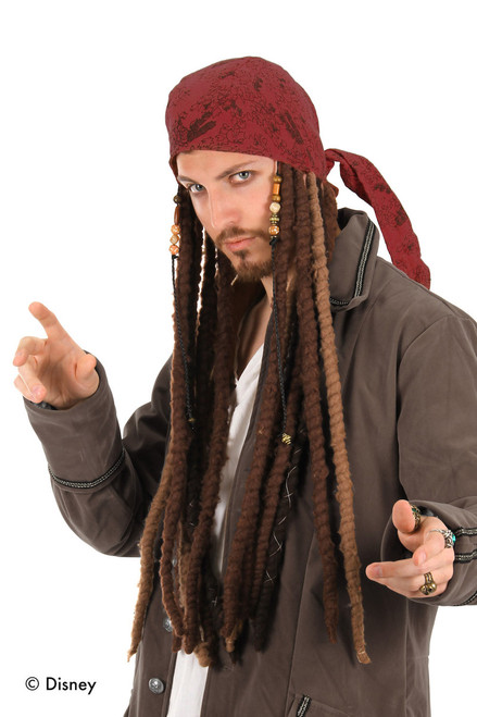 Jack Sparrow Head Scarf with Dreads