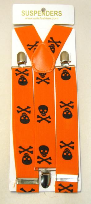 Halloween Skull Suspenders
