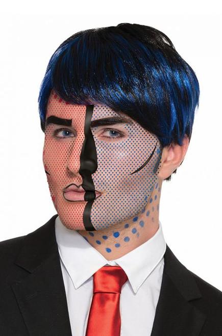 Pop Art Face Tattoo
