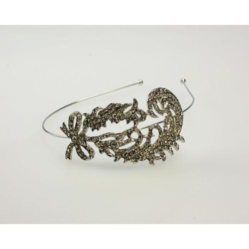 Side Swirl Flapper Rhinestone Headband
