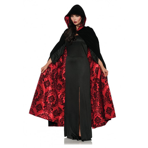 Flocked Cape Red