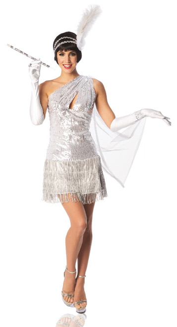 White Gatsby Flapper Costume