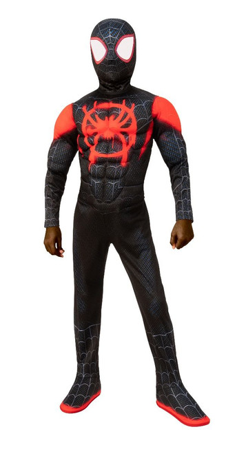Children's Deluxe Miles Morales Spider-Man Costume (Spider-Man: Into the Spider-Verse)