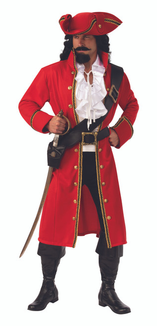 Red Pirate Captain Costume