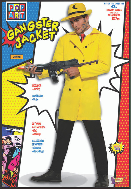 Pop Art Yellow Gangster Jacket