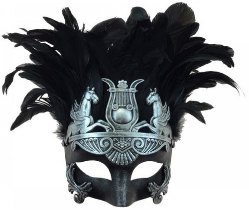 Venetian Male Mask with Feathers